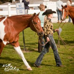 Painted Pony Whiz representing for the Official American Paint Horse Association at the trot up... just remember, no parking any time!