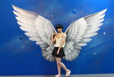 Magic Art Special Exhibition Of China 2012 Murals Street Art, Graffiti Wall Art, 3d Street Art, Mural Wall Art, Angel Wings Art, Interactive Art, 3d Painting, Magic Art, Anaconda