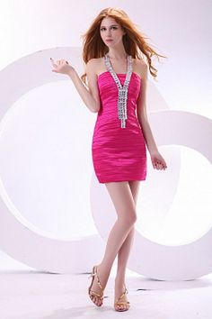 Buy Hot Pink Casual Sheath Zipper Short Ruching Cocktail Dress with fashion design and high quality, you can find more styles here. Cheap Short Prom Dresses, Cheap Cocktail Dresses, Cheap Wedding Dress, Formal Dresses, Hot Dress, Pink Dress, Flower Girl Dresses, Mothers Dresses, Mantel