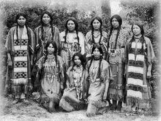 Northern Cheyenne women - circa 1920 - by ???