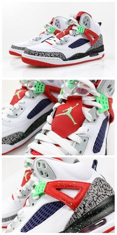 Nike Air Jordan Spizike: White/Poison Green
