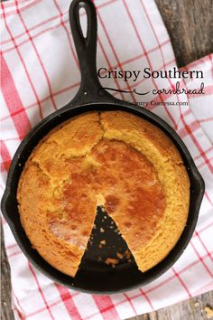 This southern cornbread recipe is perfect with all of your favorite winter dishes. Includes instructions for cast iron baking too.
