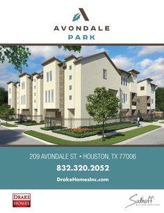 Avondale Park Brochure front page Avondale Park by Drake Homes Inc, Houston, Texas