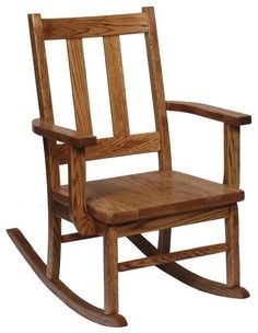 Amish Oak Aspen Delta Childrens Rocker Solid oak rocker made for the kids to enjoy! Every inch is handcrafted. All kids love to rock in their very own chair!