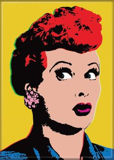 Pop Art Lucy Magnet Yellow