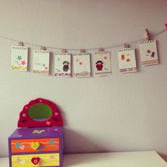 Weekly calendar for a toddler DIY Washi Week kalender voor een peuter, week ritme kaart