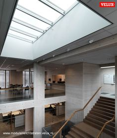Longlight Geelen Counterflow VELUX Atrium Design, Skylight, Stairs, Home Decor, Stairway, Decoration Home, Dormer House, Staircases, Room Decor