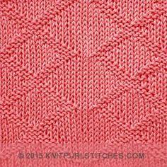 Inverness Diamonds | Reversible knit purl stitches