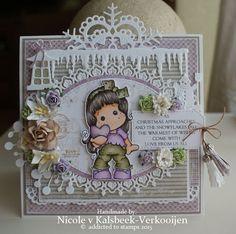 Nicole's stamp addiction: Merry Christmas ( met CD pocket )