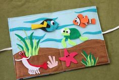 Felt Activity Board Inside with Characters