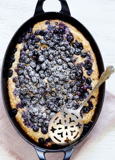 Serve a Blueberry and Ricotta Skillet Cake for breakfast with this easy recipe.