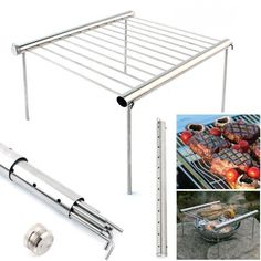 Buy Camping BBQ Grill Multi Tool Stainless Steel Camping Picnic Folding BBQ Grill Multifunction Home Grill Outdoor Camping Equipment Barbecue Grill, Grilling, Mini Grill, Portable Charcoal Bbq, Charcoal Bbq Grill, Camping Bbq, Camping Table, Camping Ideas, Shopping