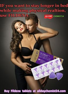 Fildena has generic component as Sildenafil used in patients who face difficulties in attaining an erection. This helps you to develop and get an erection only after sexual arousal. You need to take this tablet single, prior to 50 to 60 min before you having intercourse and duration of action of Fildena occurs for 4 to 6 hours.