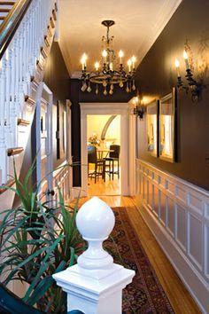Elegant Foyer~ Dark walls...