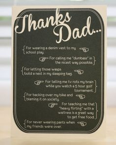 Father's Day card -funny - saddening