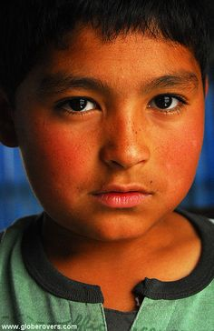 An Uyghur boy in the town of Hotan, Xinjiang province, western CHINA