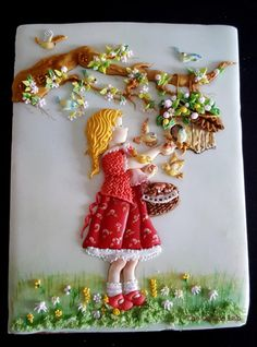 Thinking of Spring!  - Cake by The Cookie Lab - Bolachas Decoradas Artesanais