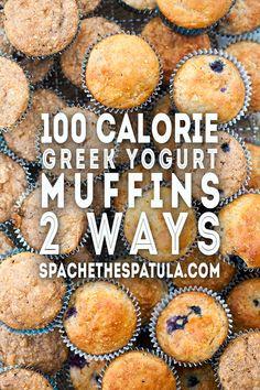 Breakfast muffins healthy 100 calories greek yogurt ideas for 2019 Healthy Waffles, Healthy Muffin Recipes, Healthy Vegan Desserts, Healthy Meals, Diabetic Recipes, Eating Healthy, Yummy Recipes, Calories In Blueberries, Frozen Yogurt Blueberries