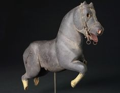 Folk Art horse/merry go round figure. Brown dress with white dots/2011/11/20
