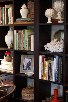 beautifully styled bookcase
