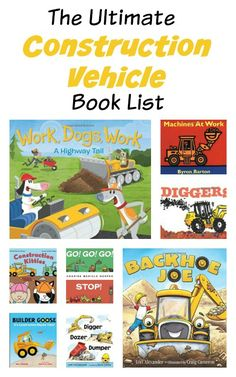 Do you know a little truck lover?  This list of construction vehicle books for kids from growingbookbybook will be a great fit .