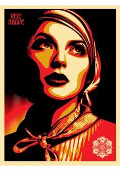 #shepardfairey #obey #sergeantpaper #artstore Rise Above Rebel 2011 #Serigraphie sur papier Edition limitee a 450ex 46x61cm - numerotee et signee
