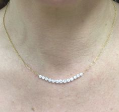 GRADUATED DIAMOND NECKLACE from Anita Ko