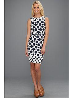 Muse Large Dot Jacquard Fitted Dress