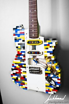 Hand Made Lego Guitar by Jillard Guitars | CustomMade.com - My Husband would totally want this!
