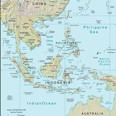 Map Of Wast Asia China Russia Mongolia Japan South Korea North