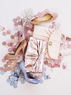 light flesh-132, medium flesh-131 mixed with nougat-178, shade of pink & rose madder, light violet 139