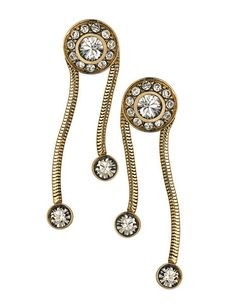 THE ORIENT EXPRESS COLLECTION   Serpent Swarovski crystal earrings  Fall/Winter Collection.  Made in Italy  Available now for pre-order.  Shipment in October