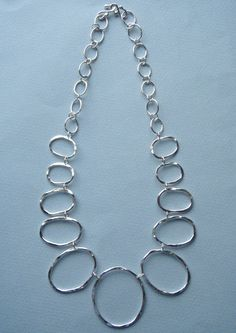 Hammered Oval Statement Necklace by dfjewelry. Explore more products on http://dfjewelry.etsy.com