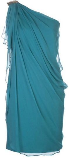 little blue dress, draped dress, assymetrical, one shoulder dress, party, cocktail