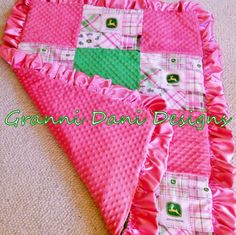 JOHN DEERE baby blanket comforter bedding by GranniDaniDesigns, $79.00