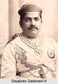 """Sayajirao Gaekwad III (born Shrimant Gopalrao Gaekwad,1863 – 1939) was the Maharaja of Baroda State from 1875 to 1939, & is notably remembered for reforming much of his state during his rule. He belonged to the royal Gaekwad dynasty of the Marathas which ruled most of present day Gujarat. Sayajirao had a splendid collection of jewels and jewellery. This included the 262 carat (52.4 g) """"Star of the South"""" diamond, the """"Akbar Shah"""" diamond & the """"Empress Eugenie"""" diamond."""