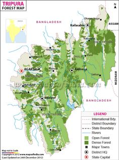 Forest Map of Madhya Pradesh  India Thematic Maps  Pinterest