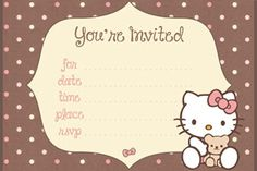 Free Hello Kitty Printable Birthday Invitations from PrintableTreats.com