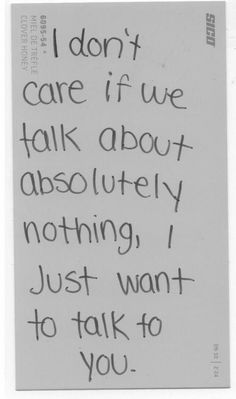 That's all I ask for...