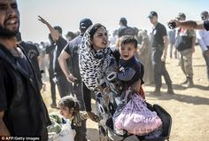 Syrian refugees - why is the mother carrying the BOY plus a bag, while making an equally-distressed GIRL of about the same age not only walk, but CARRY ANOTHER BAG, TOO?!?