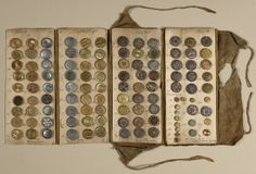 Button sample book from France, late 18th century (photo: matt flynn) Cooper Hewitt Museum