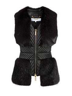 sci-fi armored mink vest