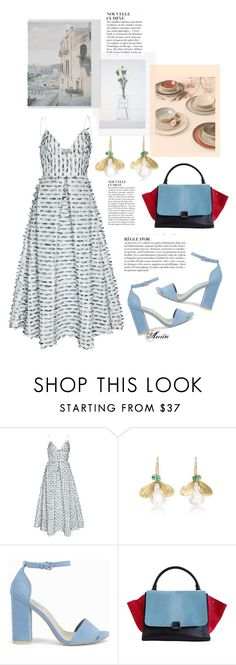 """""""perfect dress for Sunday!"""" by wodecai ❤ liked on Polyvore featuring Anja, Alex Perry, Annette Ferdinandsen, Nly Shoes and CÉLINE"""