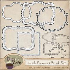 Digiart Cafe: FREE Digital Doodle Frames & Brush Set