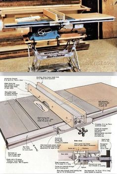 DIY Table Saw Fence - Table Saw Tips, Jigs and Fixtures | WoodArchivist.com #woodworkingtools