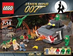 Once again: There are no LEGO James Bond sets The images above show concept artworks by LEGO fan Jeff Chapman. Despite their great look and awesome packaging design with the perfect LEGO packaging. James Bond, Lego Sets, Iron Man, Lego Universe, All Lego, Cool Lego Creations, Lego Super Heroes, Lego Moc, Lego Marvel