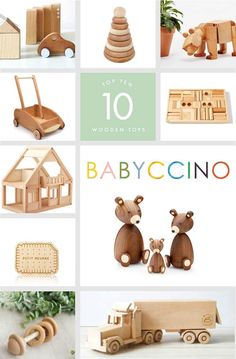 Wood over plastic! We love wooden toys and these ones are so beautiful that you will actually leave them on purpose in your living room - made with natural wood, they're a real piece of decor! Have a look at our selection of favourites!