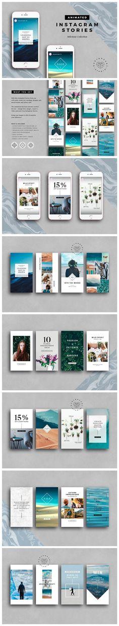 ANIMATED Milestone Instagram Stories by Ruby&Heart Studio on @creativemarket