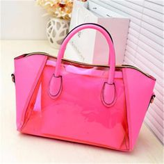 Women's Candy Colored Clear Bag 5 Colors