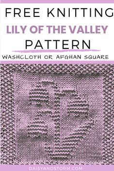 Free Garden Themed Dishcloth and Afghan Squares Knitting Patterns Knitted Dishcloth Patterns Free, Knitting Squares, Knitted Washcloths, Crocheting Patterns, Knit Dishcloth, Easy Knitting Patterns, Knitting Ideas, Knitting Designs, Free Knitting